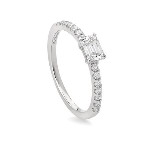 Emeralda 0,70 diamantring