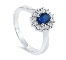 Magnifico Neo Ring Safir og Diamanter