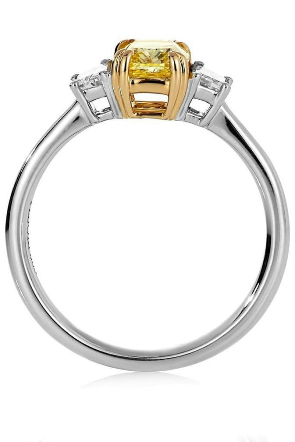 Diamantring - Gul Diamant 1,83ct