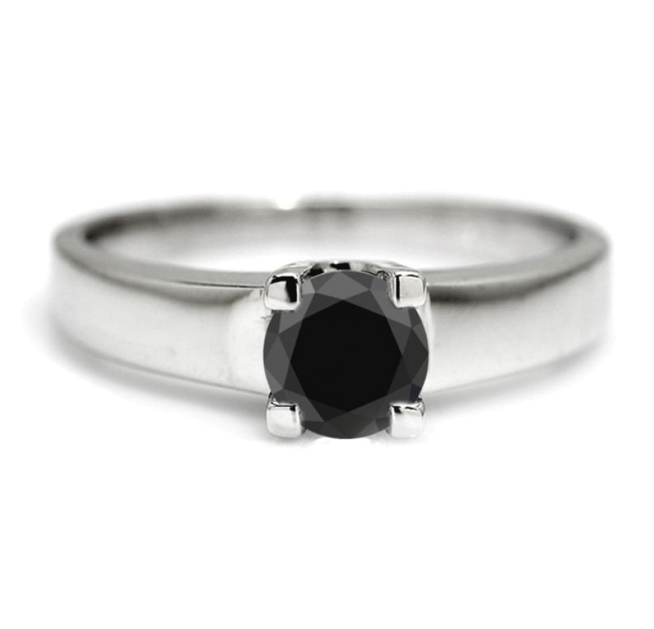 Brilliante Forlovelsesring 1 carat Sort diamant
