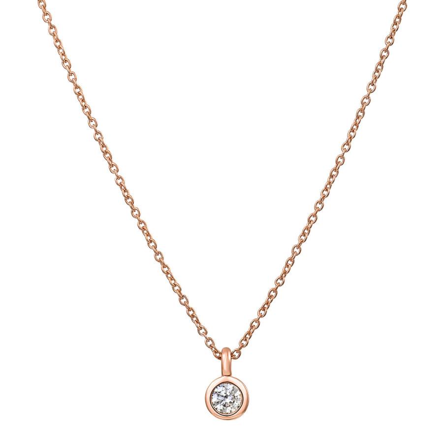 Anelli Diamantsmykke Rose Gull