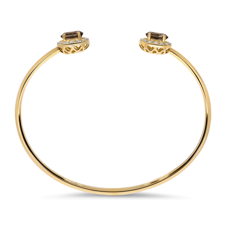 Oro Marrone Diamantarmring